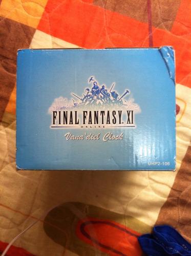 final fantasy xi. reloj original de coleccion para mesa