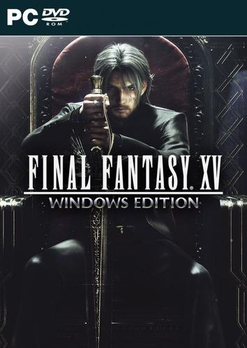 final fantasy xv + 1 jogo gratis (mídia física) pc - dvd