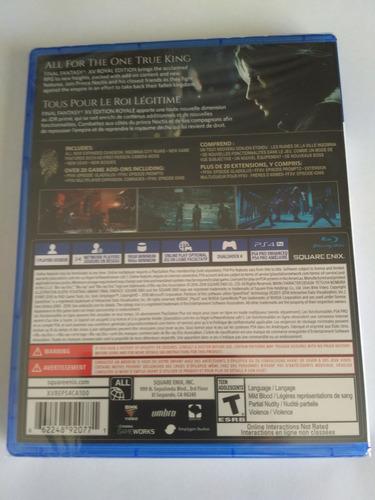 final fantasy xv royal edition ps4 nuevo sellado