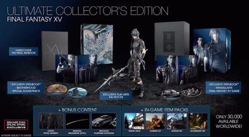 final fantasy xv ultimate collector's edition nuevo xbox one