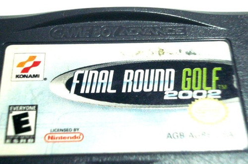 final round golf 2002 nintendo ds game boy advance gba