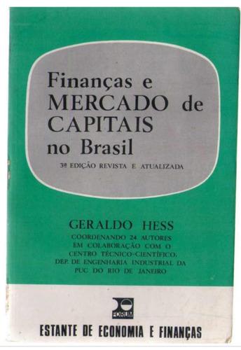 finanças e mercado de capitais no brasil - geraldo hess