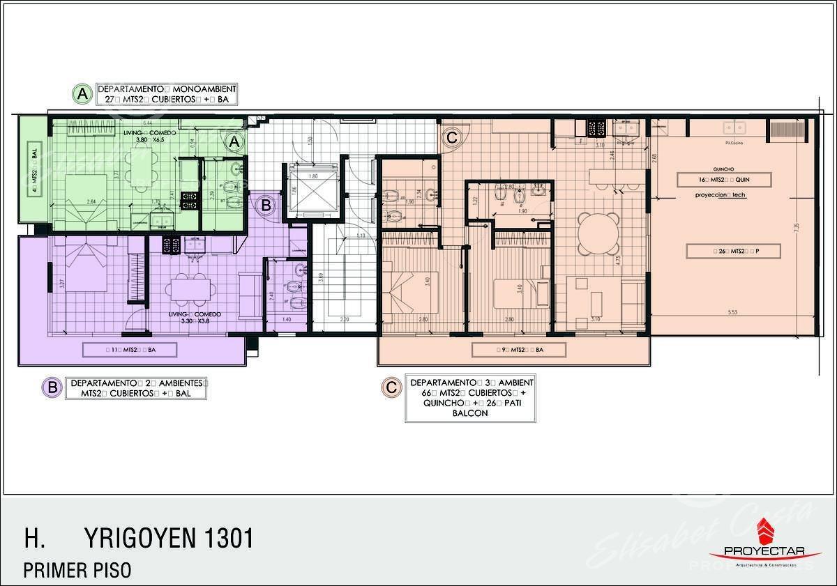 financiación directa propietario. departamento a estrenar, 3 ambientes, 2 baños, patio, quincho, parrilla, balcón - avellaneda