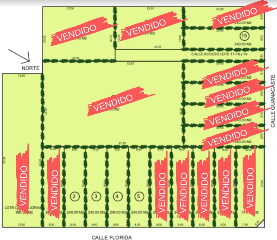 financiado lote de 240 m2  listo p/escriturar