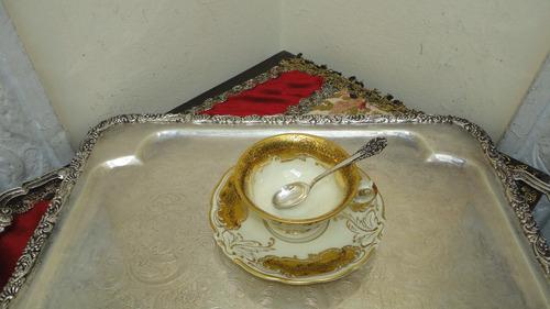 finas cucharas de cafe antiguas bañadas en plata vealas