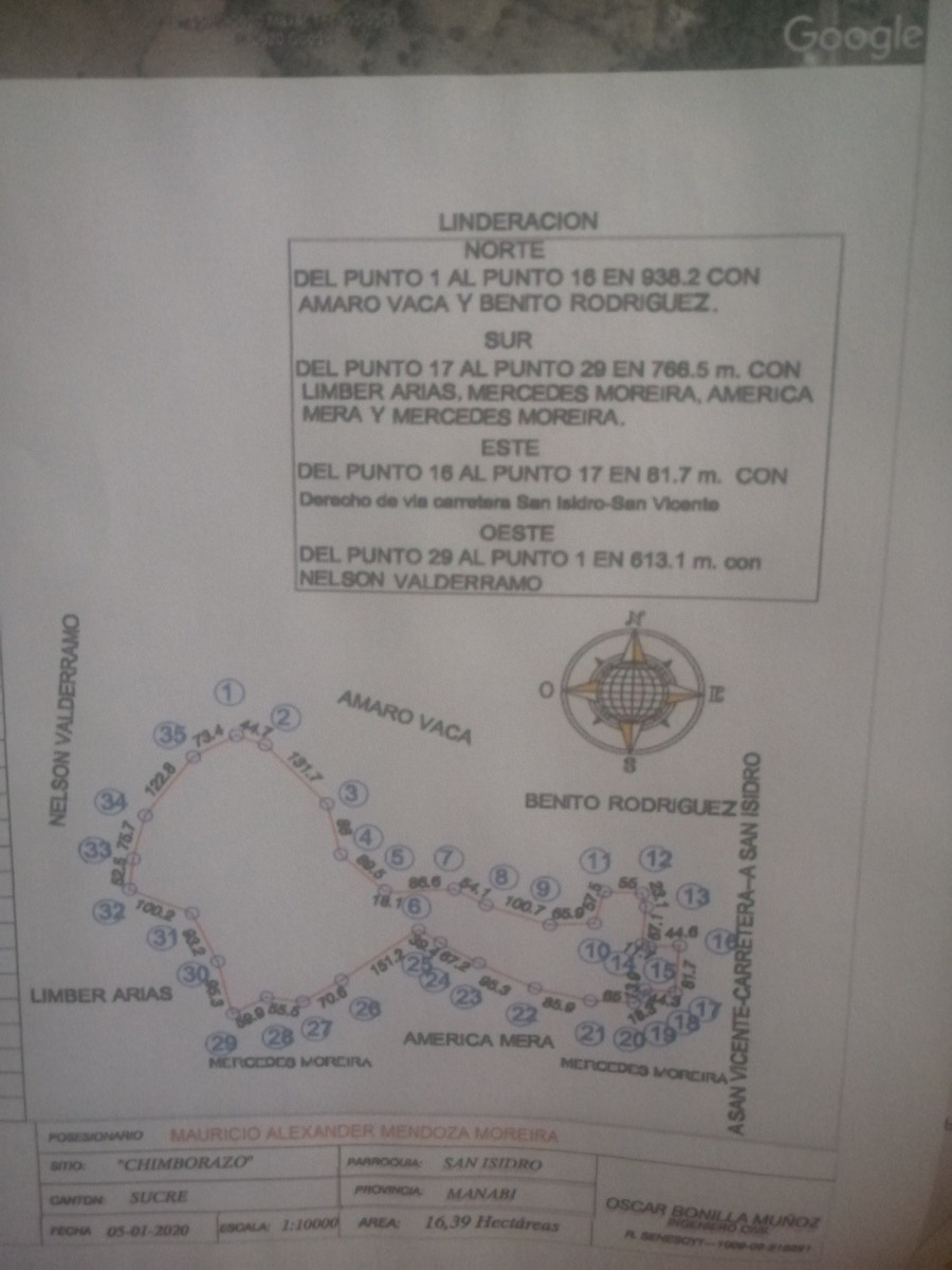 finca (16,39 has.) san isidro - manabí