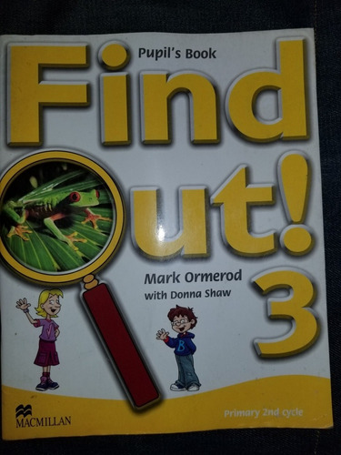 find out 3 pupil's book primary 2nd cycle