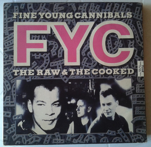 fine young cannibals - the raw  -  lp  - ver o video