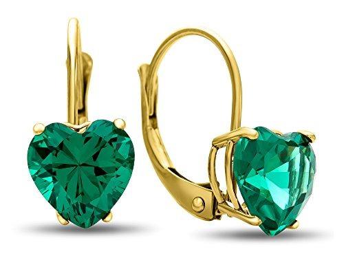 finejewelers 7x7 mm en forma de corazón simulado emerald p
