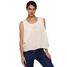 1bd625a877 Blusas Blancas Elegantes Ropa Mujer - Blusas en Santiago en Mercado ...