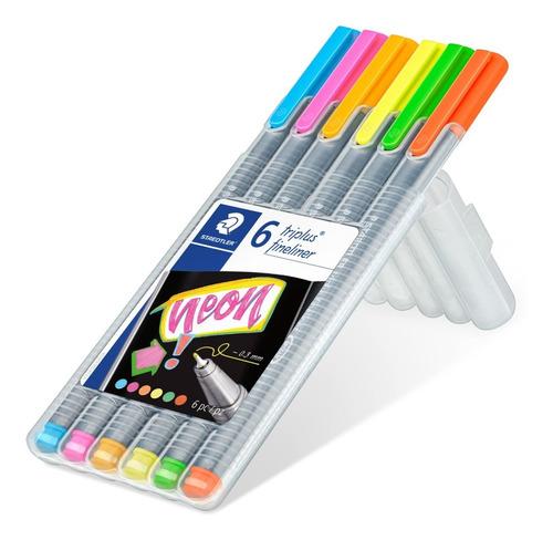 fineliner punta fina 0.3mm neon - unidad a $34000