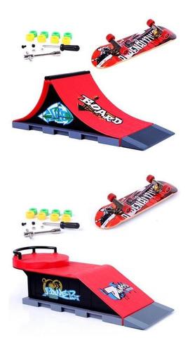 finger skateboard ramp kit patineta patín de skate rampa