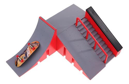 fingerborad ramps park mini tablero profesional de patín de