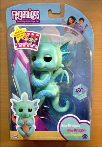 fingerlings baby dragon noa (color celeste) nuevo