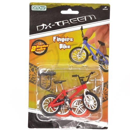 fingers bike mini bicicleta roja p dedos dx-treem de ditoys