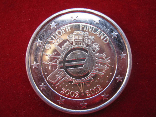 finlandia 2 euro 2012 conmemorativa 10 años moneda euro