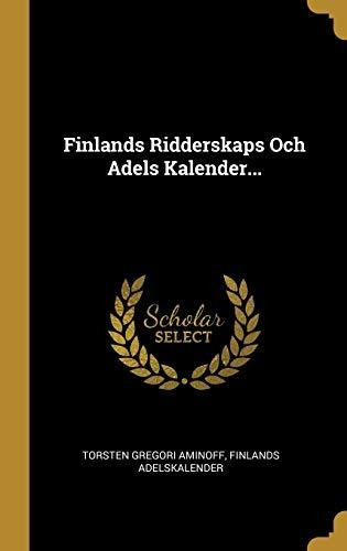 finlands ridderskaps och adels kalender... : torsten gregor