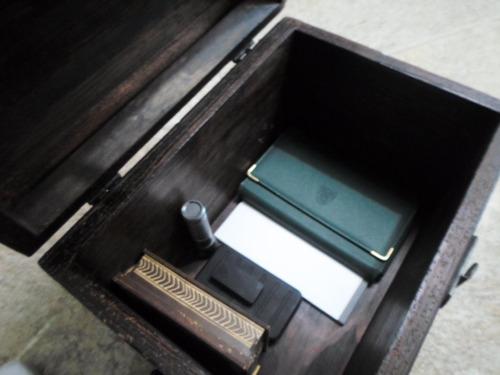 fino baul vintage  guarda documentos alhajas génesis envío