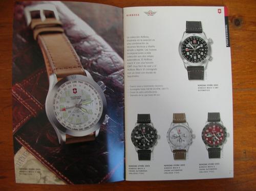 fino catalogo de relojes victorinox impreso en suiza