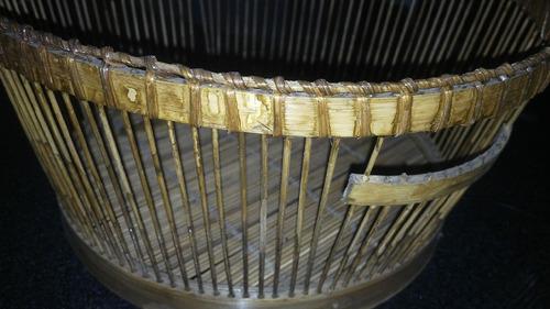 fino cesto de rattan, 15x28cm, usos varios, origen tailandia