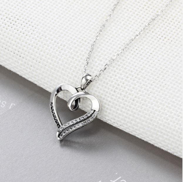 7c5ffa178756 Fino Collar De Corazon Plata Ley .925 Swarovski Novia Amor ...