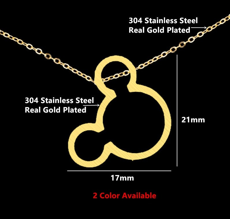 b746f36f6cc7 Fino Collar Dije Mickey Mouse Disney  acero Inoxidable  -   92.99 en ...