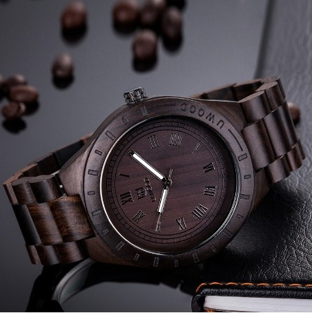 fino reloj de madera natural exclusivo hombre envio gratis!