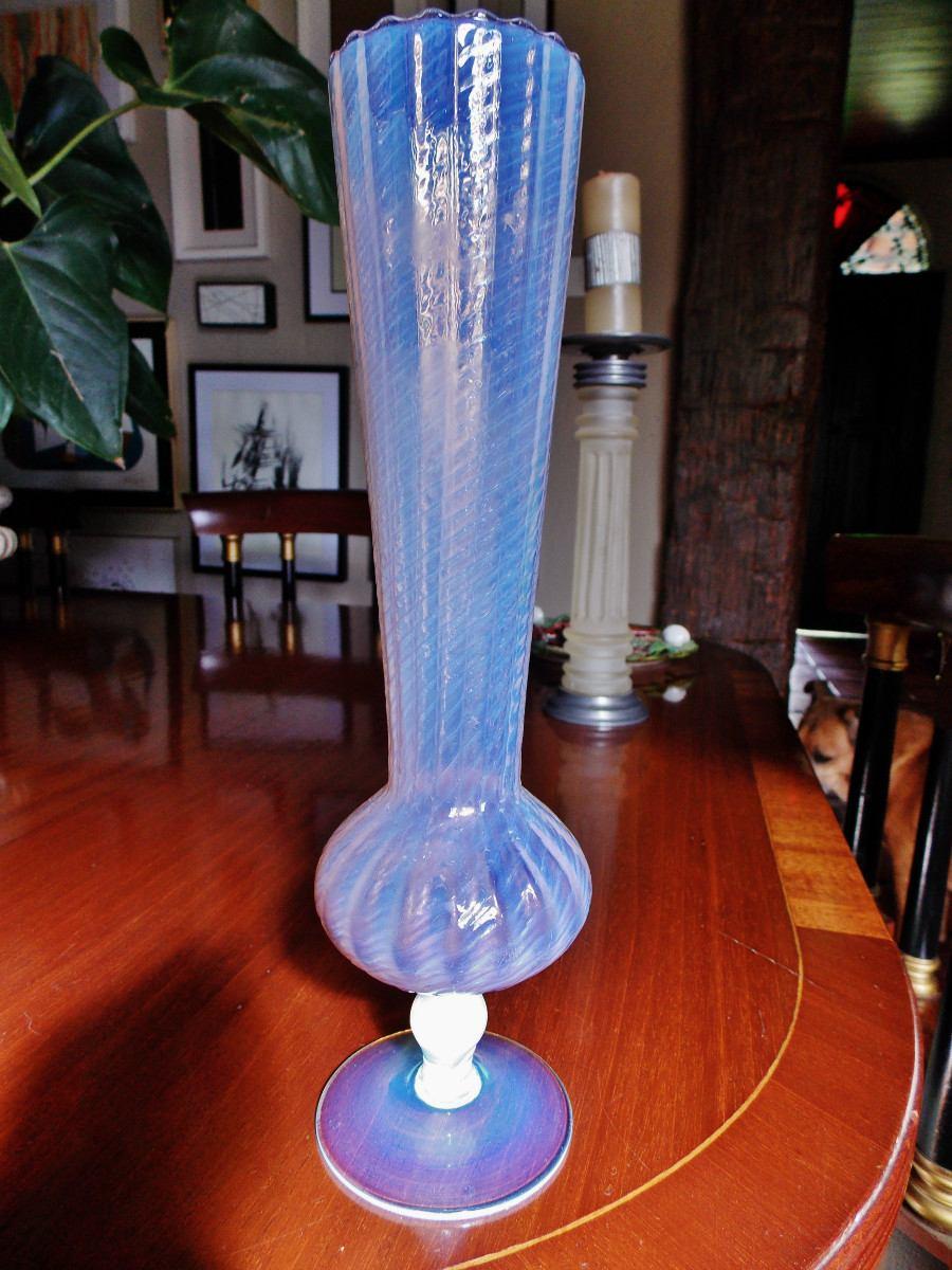 Fino vaso cristal opalescente rosa maravilhoso r 750 - Vasos grandes cristal ...