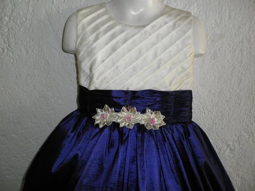 fino vestido largo satinado fiesta pajecita princesa 6 años