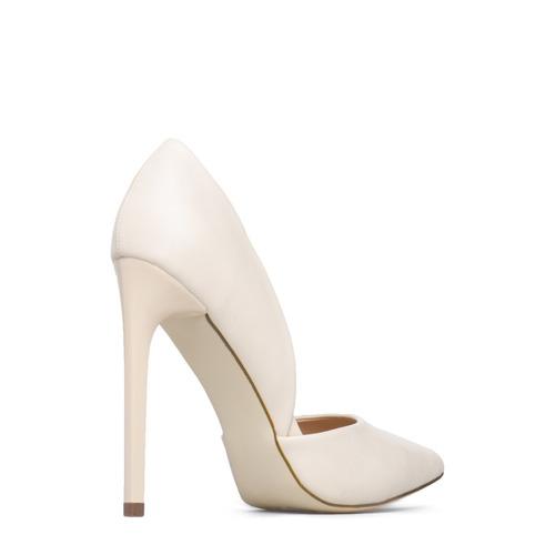 finos zapatos taco punta piel nude fiesta 7.5 37.5 38 stock