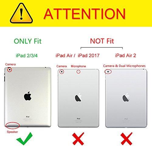 fintie apple ipad 2/3/4 case - cubierta giratoria de 360 ¿¿g