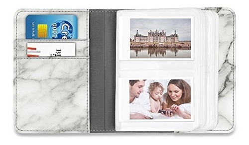 fintie fujifilm instax mini álbum de fotos mármol zmarble