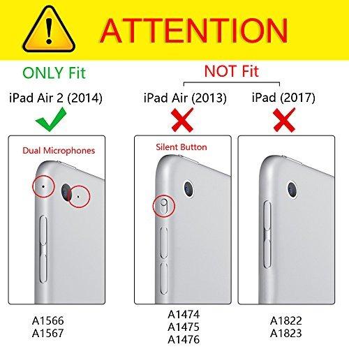 fintie ipad air 2 case (versión 2014) - [slimshell] cubierta