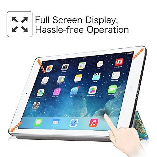 fintie ipad air case - ultra delgado peso ligero stand smart