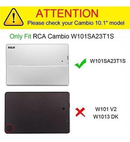 fintie rca cambio 101 multiviewing case negro