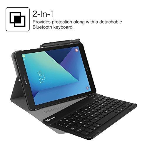fintie samsung galaxy tab s3 9.7 caja del teclado, smart sli