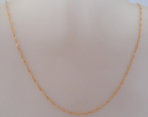 fio cordão feminino singapura 50cm joia ouro 18k certificado