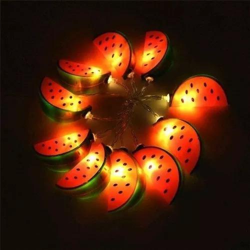 fio de luz corda cordão  iluminado melancia minis