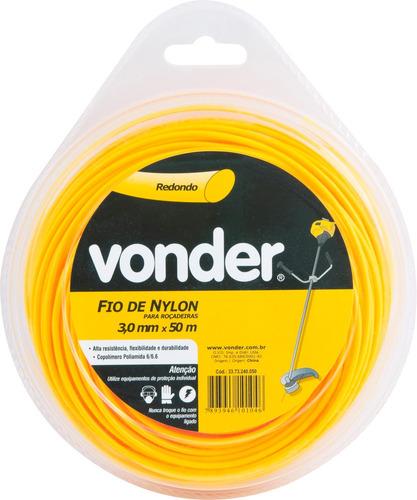 fio de nylon 3,0mmx50m redondo para roçadeiras e aparadores