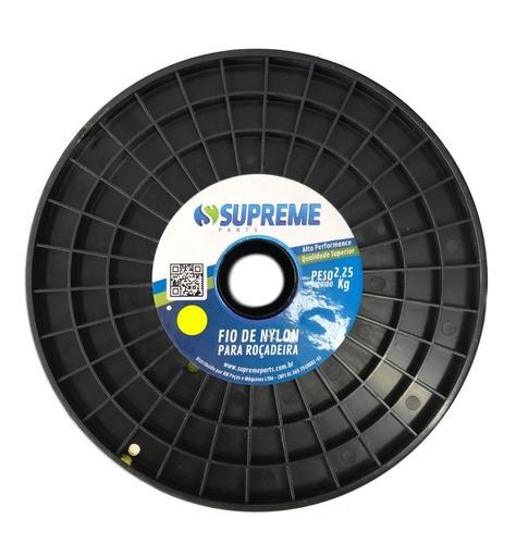 fio de nylon para roçadeira rolo 2,25kg redondo 3,3mm 3.3