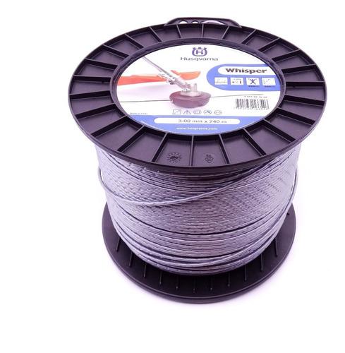 fio de nylon whisper para roçadeira 3,0mm c/ 240m husqvarna
