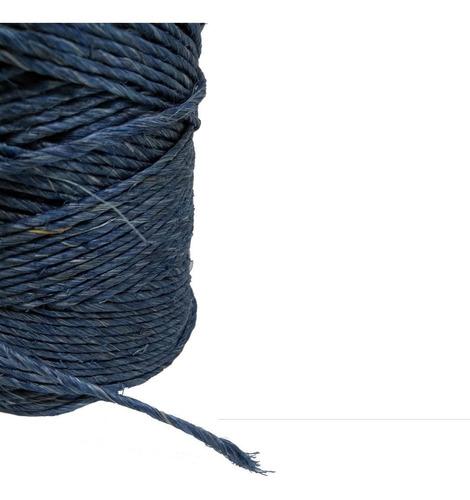 fio de sisal 700/1 azul 160 metros 250gr artesanato