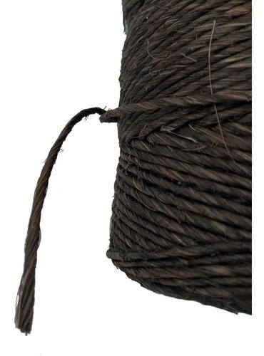 fio de sisal 700/1 chocolate 160 metros 250gr artesanato