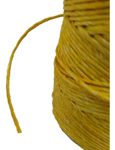 fio de sisal amarelo 700/1 160 metros 250gr artesanato