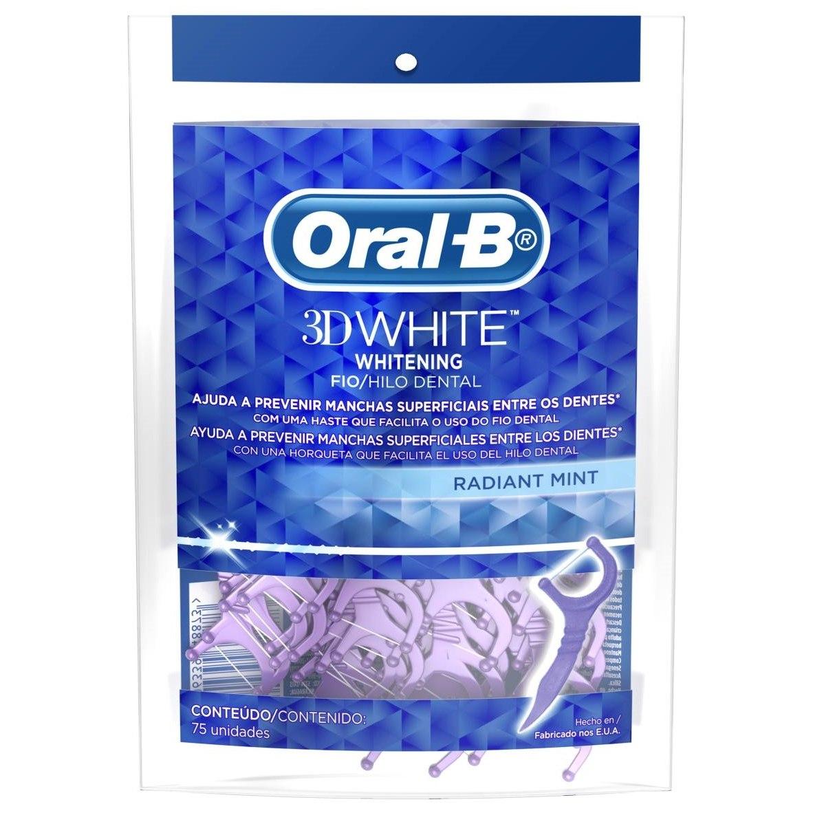 fio dental oral-b 3d white radiant mint hastes flexíveis. Carregando zoom. e52576fd838c