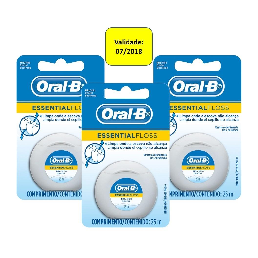 029fd76ed fio dental oral-b essential floss encerado leve 3 pague 2. Carregando zoom.