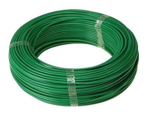 fio eletrico flexivel 2,5mm verde, rolo com 100 metros