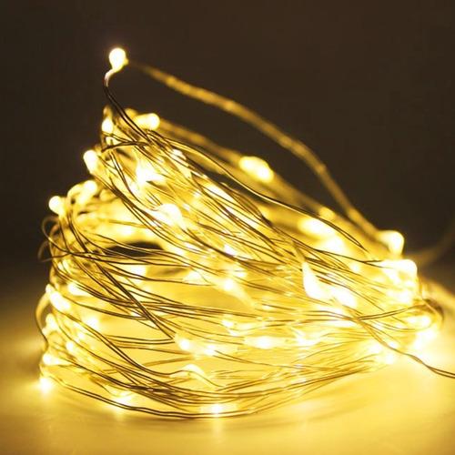 9908dbbd9 Fio Fada Cordão De Luz Led Cores Natal 10m 100 Leds Pilha - R  32