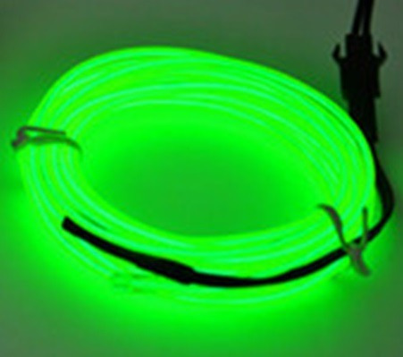 fio luz tubo neon led pilha 5 metros c/ controle 3v el wire