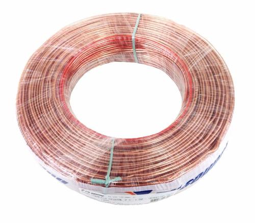 fio paralelo flexível cristal 2 x 2,50 mm 100mts 100% cobre